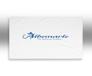 Albemarle Boats Beach Towel white