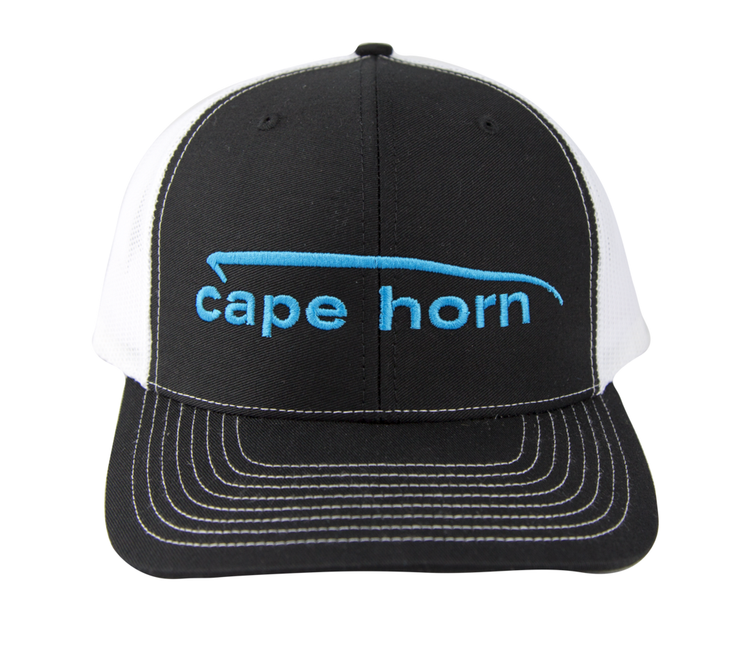 Cape Horn Structured Trucker Hat - Black