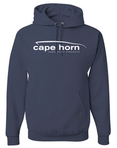 Cape Horn Logo Hooded Sweatshirt - Navy