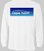 Cape Horn Indigo Blue Fade Stripes Performance Long Sleeve