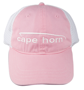 Cape Horn Unstructured Trucker Hat - Pink
