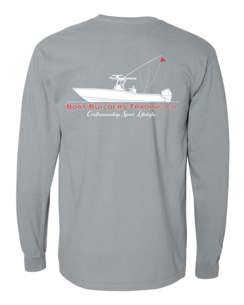Boat Builders Trading Co. Center Console Long Sleeve - Salt Grey