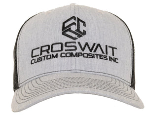 Croswait Custom Composites Heather Grey Trucker
