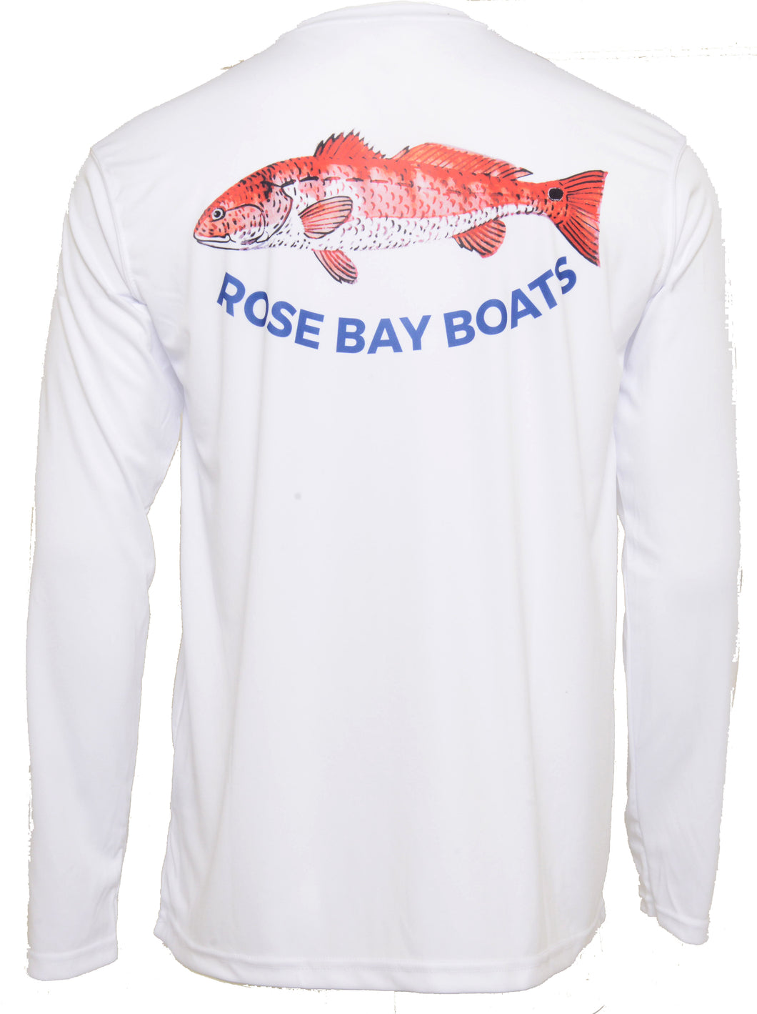 Rose Bay Boats Redfish Performance Shirt - White