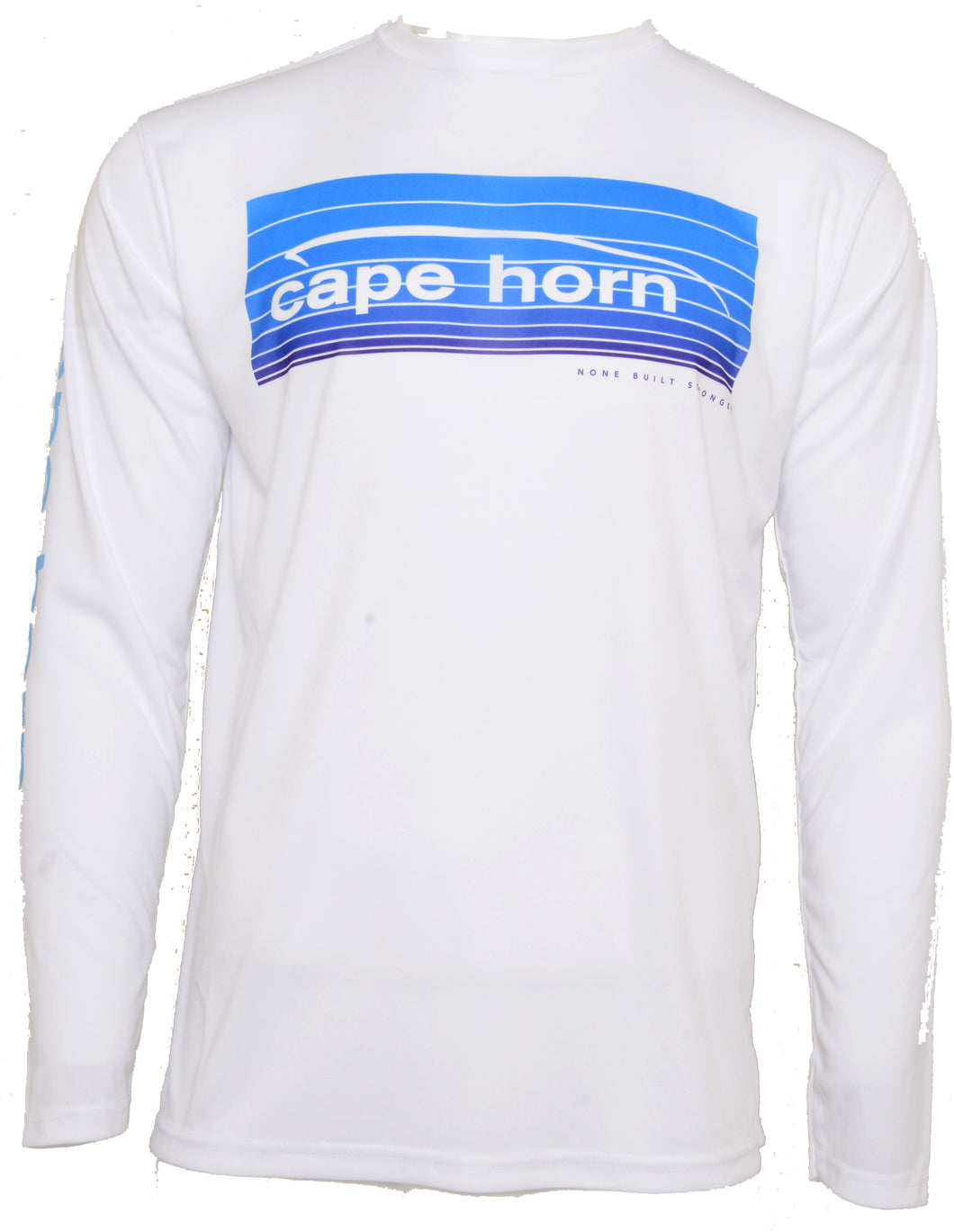 Cape Horn Light Blue Fade Stripes Performance Long Sleeve