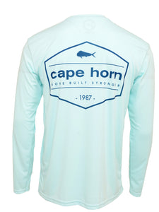 Cape Horn Vintage Stamp Performance Long Sleeve Shirt