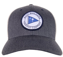 Boat Builders Trading Co. SC Flag Patch Structure Low Profile Trucker Hat - Heather Navy/Light Grey