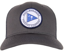 Boat Builders Trading Co. SC Flag Patch Structured Trucker Hat - Charcoal/Navy