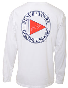 Boat Builders Trading Co. Long Sleeve T-Shirt - White