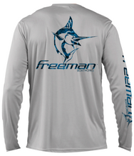 Freeman Boatworks Logo Marlin Infill Performance Long Sleeve