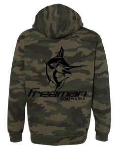 Limited Edition Freeman Boatworks Sweatshirt - Camo