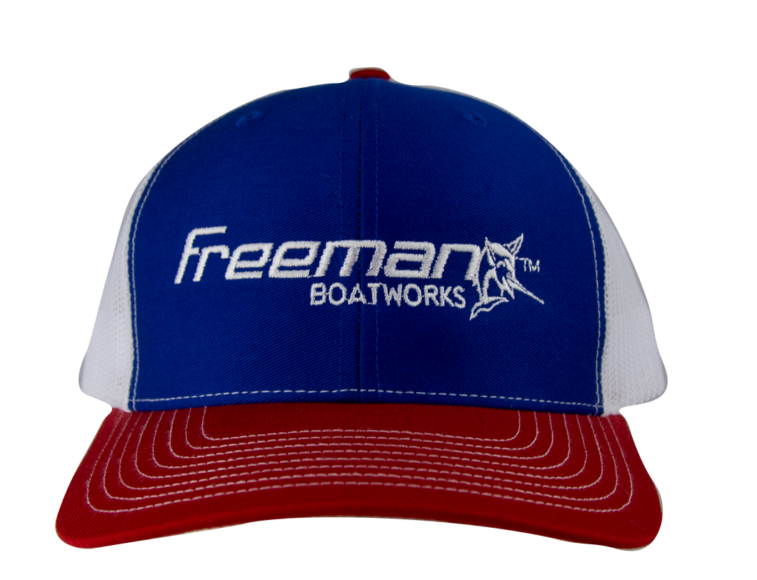 Freeman Boatworks Blue Trucker Hat