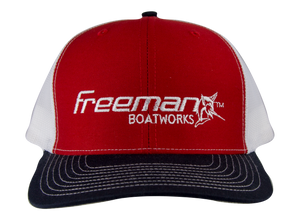 Freeman Boatworks Red Trucker Hat