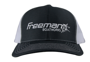 Freeman Boatworks Charcoal Trucker Hat