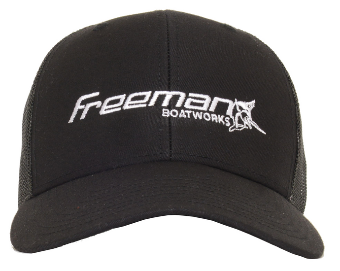 Freeman Boatworks Black Trucker Hat