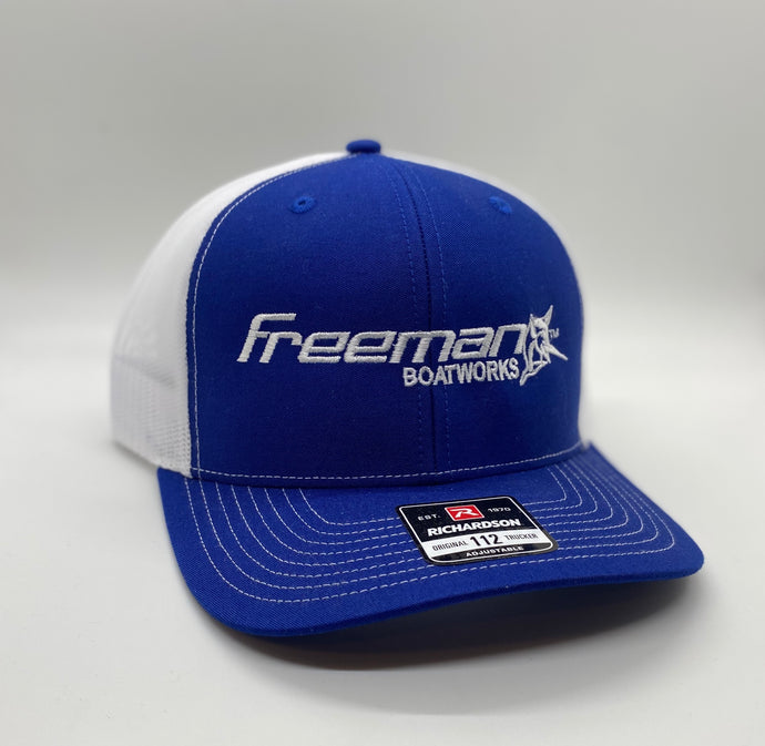Freeman Boatworks Royal Blue Trucker Hat