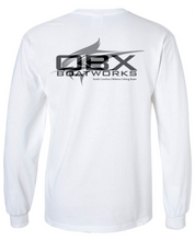 OBX Boatworks Sailfish Long Sleeve Cotton T-Shirt - White