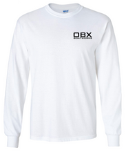 OBX Boatworks Line Drawing Long Sleeve T-shirt - White