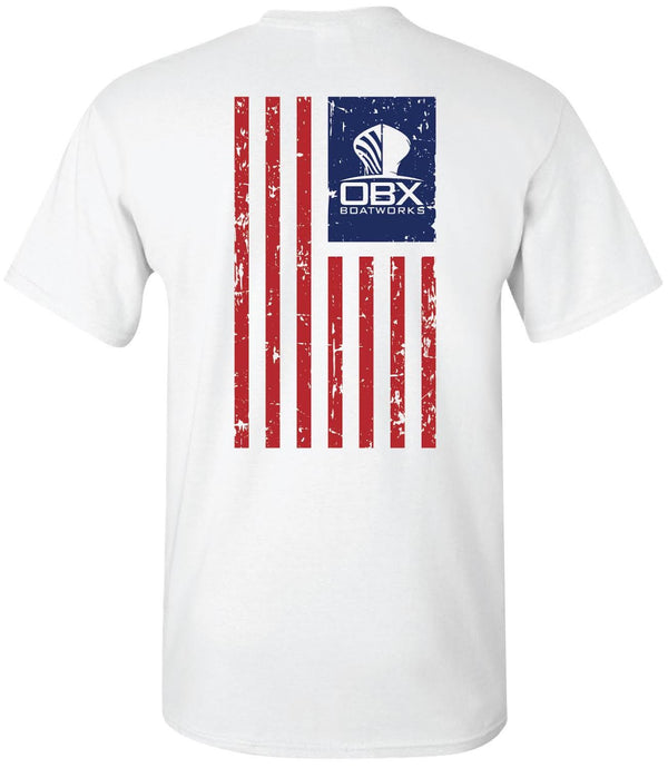 OBX Boatworks USA Flag Short Sleeve