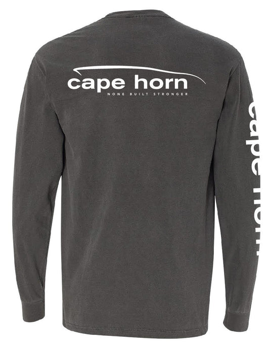 Cape Horn Classic Logo Long Sleeve Shirt - Pepper