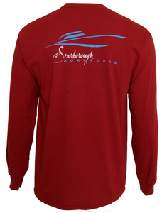Scarborough Boatworks Long Sleeve T-Shirt - Red
