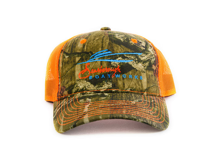 Scarborough Boatworks Trucker Hat - Orange Camo