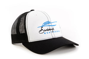 Scarborough Boatworks Trucker Hat - White