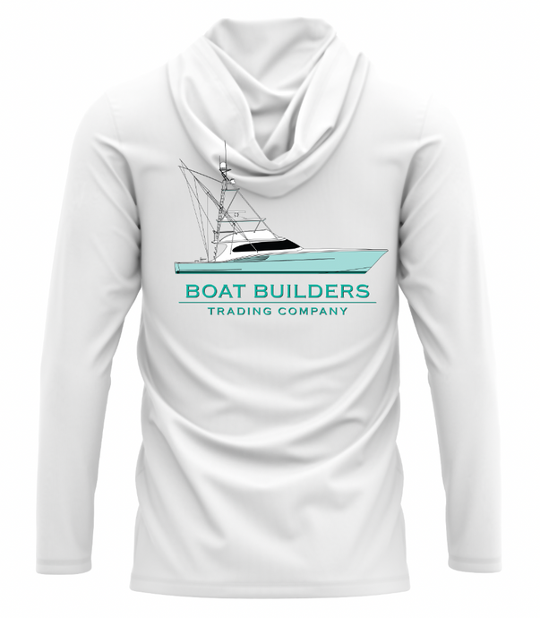 Boat Builders Trading Co. Performance Long Sleeve Hoodie - Green Hull