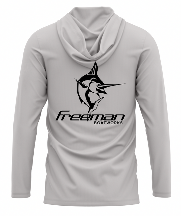 Freeman Boatworks Performance Long Sleeve Hoodie - Grey