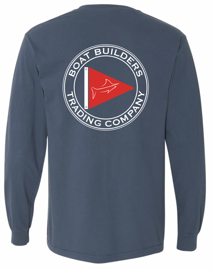 Boat Builders Trading Co. Long Sleeve T-Shirt - Navy