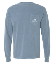 Boat Builders Trading Co. Yellow Sportfish Long Sleeve - Slate Blue