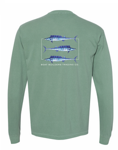 Boat Builders Trading Co. Wahoo Triple Threat Long Sleeve Shirt - Pine Green