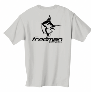 Freeman Boatworks Short Sleeve Grey shirt with Black logo