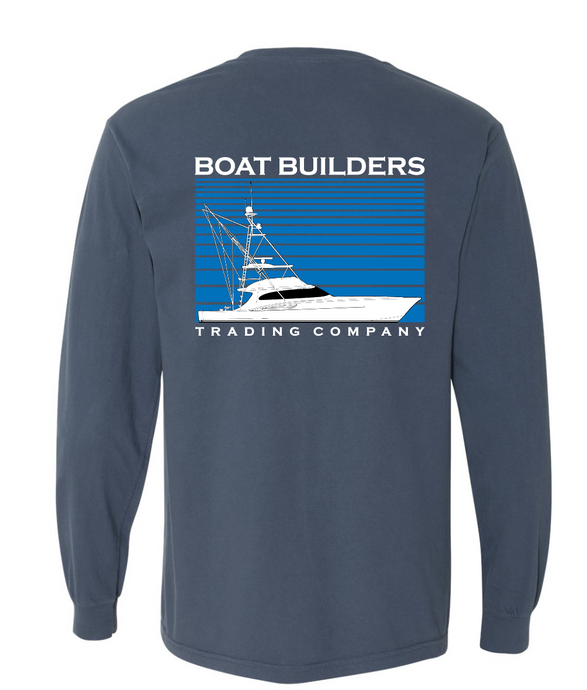 Boat Builders Trading Co. Sport Fisher Stripe Long Sleeve