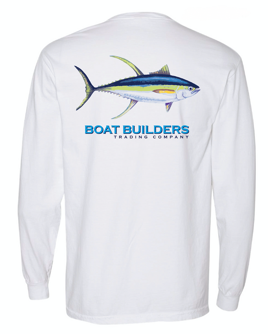 Boat Builders Trading Co. Yellowfin Tuna Long Sleeve Shirt - White