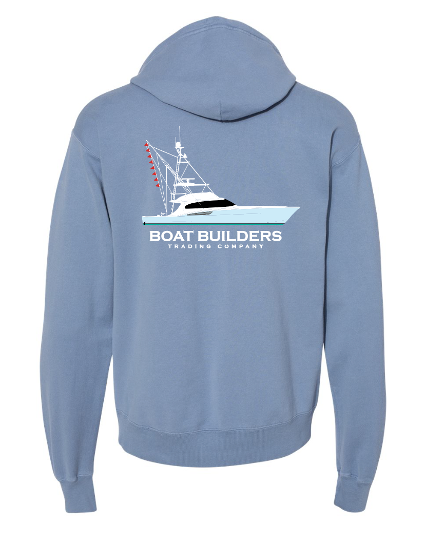 Limited Edition Boat Builders Trading Sweatshirt - Blue Sportfish