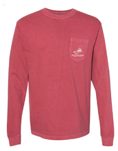 Boat Builders Trading Co. Long Sleeve Walk Around Line Drawing- Channel Marker Red
