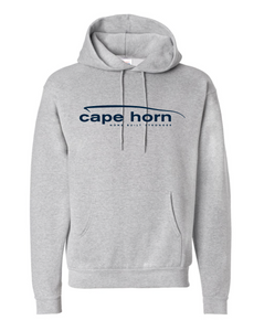 Cape Horn Logo Hooded Sweatshirt - Grey