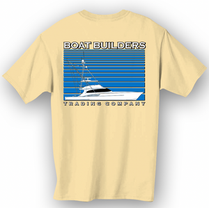Boat Builders Trading Co. Sport Fisher Stripe - Yellow
