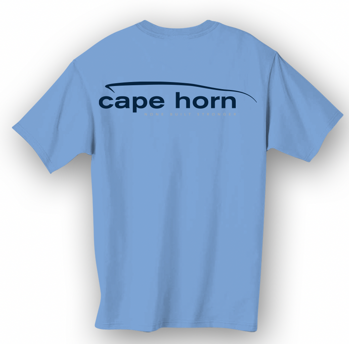 Cape Horn Classic Short Sleeve Marlin Blue and Hull Grey