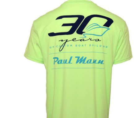 Paul Mann Custom Boats - Performance Short Sleeve 30 Year