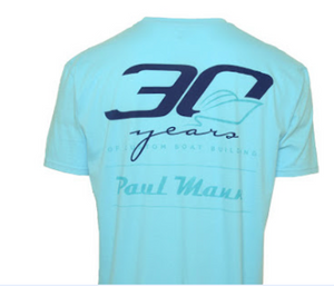 Paul Mann Custom Boats - Women's Short Sleeve 30 year