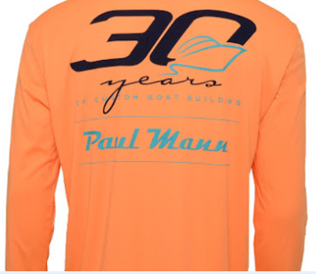 Paul Mann Custom Boats - Performance Long Sleeve 30 Year