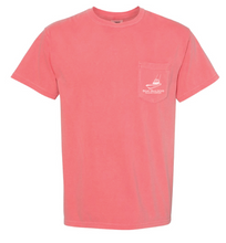 Boat Builders Trading Co. Striped Mahi Short Sleeve Shirt - Coral