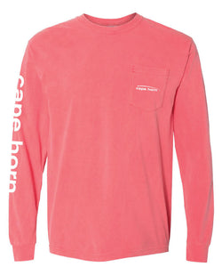 Cape Horn Classic Logo Long Sleeve Shirt - Watermelon