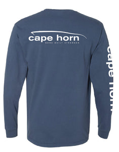 Cape Horn Classic Logo Long Sleeve Shirt - Midnight Blue
