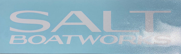 Salt Boatworks transfer decal