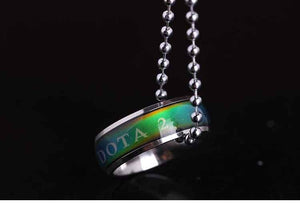 Dota 2 Titanium Ring Necklace