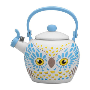White Owl Whistling Tea Kettle - All About Coffee n Tea