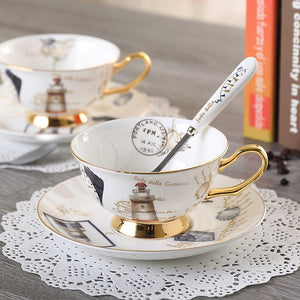 Elegant Logbook Bone China Coffee and Tea Set - All About Coffee n Tea